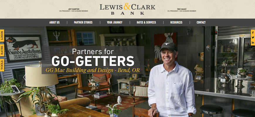 Lewis & Clark Bank - Cascade Web Development